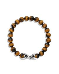 David Yurman - Metallic Spiritual Beads Bracelet With Tiger's Eye, 8mm for Men - Lyst