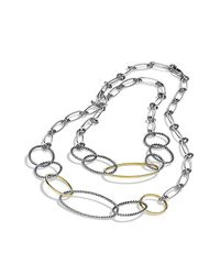 David Yurman - Metallic Mobile Link Necklace With 18k Gold - Lyst