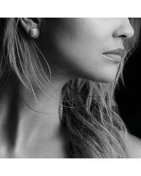 David Yurman - Metallic Albion Earrings With Black Diamonds, 7mm - Lyst