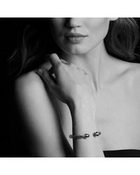 David Yurman - Metallic Cable Classics Bracelet With Diamonds And 18k Gold, 7mm - Lyst