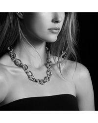 David Yurman - Metallic Extra-large Oval Link Necklace - Lyst