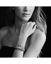 David Yurman - Metallic Petite Pavé Id Bracelet With Diamonds In 18k Gold - Lyst