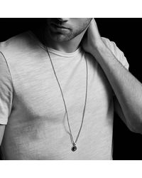 David Yurman - Metallic Dy Fortune Faceted Amulet With Golden Sheen Sapphire In 18k Gold - Lyst