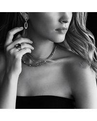 David Yurman - Metallic Eight-row Chain Necklace With Diamonds In 18k Gold - Lyst