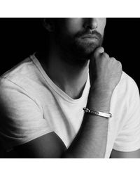 David Yurman - Metallic Streamline Id Bracelet With Black Diamonds for Men - Lyst