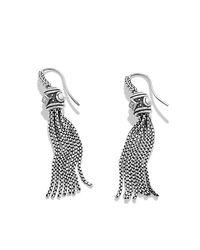 David Yurman - Metallic Renaissance Earrings With Diamonds In Silver - Lyst