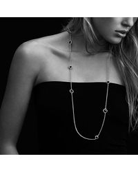 David Yurman | Châtelaine Chain Necklace With Black Onyx And 18k Gold | Lyst