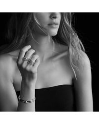David Yurman - Metallic Labyrinth Single-loop Ring With Diamonds - Lyst
