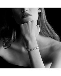 David Yurman - Metallic Cushion Link Bracelet With Diamonds In 18k Gold - Lyst