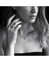 David Yurman - Metallic Infinity Earrings With Diamonds In Gold - Lyst