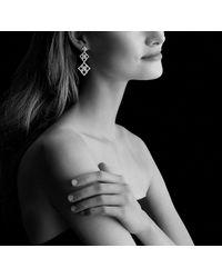 David Yurman - Venetian Quatrefoil Double-drop Earrings With Diamonds In 18k White Gold - Lyst