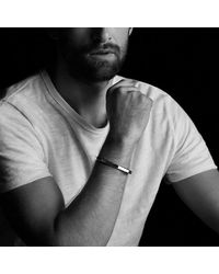 David Yurman - Pink Faceted Metal Cuff Bracelet With 18k Rose Gold for Men - Lyst