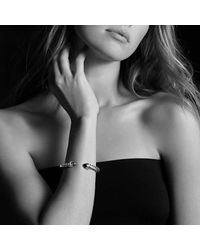 David Yurman - Purple Cable Classic Crossover Bracelet With Amethyst And Diamonds, 7mm - Lyst