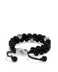 David Yurman - Spiritual Beads Two-row Bracelet With Black Onyx for Men - Lyst
