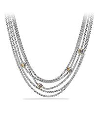 David Yurman - Metallic Renaissance Toursade Necklace With Citrine, Rhodalite Garnet And 18k Gold - Lyst
