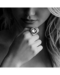 David Yurman - Metallic Albion® Ring With Prasiolite And Diamonds, 17mm - Lyst