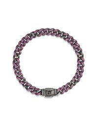 David Yurman - Petite Pavé Curb Link Bracelet With Pink Sapphires - Lyst