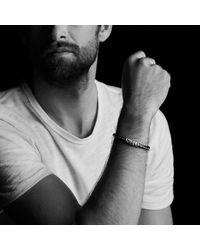 David Yurman - Black Chevron Leather Bracelet In Blue for Men - Lyst