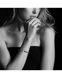 David Yurman   Metallic Cable Classics Bracelet With Diamonds In 18k Gold, 5mm   Lyst
