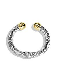 David Yurman | Metallic Cable Classics Bracelet With 14k Gold, 10mm | Lyst