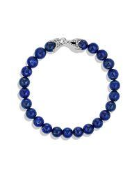 David Yurman   Metallic Spiritual Beads Bracelet With Lapis Lazuli, 8mm for Men   Lyst