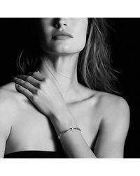 David Yurman - Metallic X Crossover Bracelet With Diamonds - Lyst
