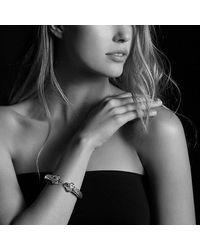 David Yurman | Metallic Renaissance Bracelet With Guava Quartz, Peridot, Pink Tourmaline, And 14k Gold, 10mm | Lyst
