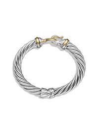 David Yurman | Metallic Buckle Cable Bracelet With Gold | Lyst