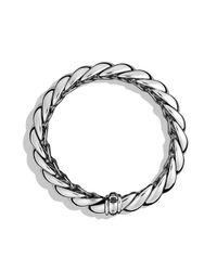 David Yurman - Metallic Hampton Bracelet, 14mm - Lyst