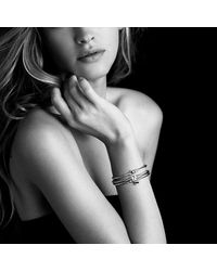 David Yurman - Metallic Cable Collectibles Heart Bracelet With 18k Gold, 3mm - Lyst