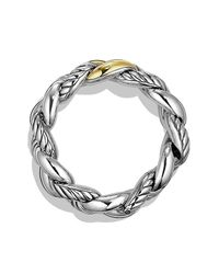David Yurman - Metallic Belmont Curb Link Bracelet With 18k Gold, 25mm - Lyst