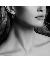 David Yurman - Metallic Continuance® Hoop Earrings With Diamonds In 18k Gold - Lyst