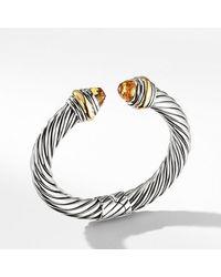 David Yurman - Metallic Cable Classics Bracelet With Citrine And 14k Gold, 10mm - Lyst