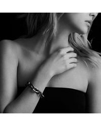 David Yurman - Metallic Extra-large Oval Link Bracelet With 14k Gold - Lyst