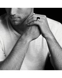 David Yurman - White Exotic Stone Signet Ring With Dinosaur Bone for Men - Lyst