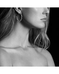 David Yurman - Wisteria Hoop Earrings With Diamonds In 18k White Gold - Lyst