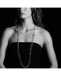 David Yurman - Metallic Bead And Chain Necklace With Carnelian, Garnet And 18k Gold - Lyst