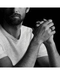 David Yurman - Black Forged Carbon Band Ring for Men - Lyst