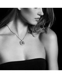 David Yurman - Metallic Châtelaine Pave Bezel Enhancer With Garnet And Diamonds In 18k Gold, 26mm - Lyst