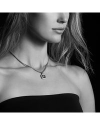 David Yurman | Metallic Albion Pendant With Black Orchid And Diamonds, 11mm | Lyst