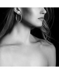 David Yurman - Metallic Crossover Extra-large Hoop Earrings With Diamonds - Lyst