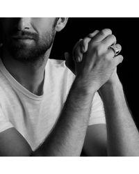 David Yurman - Pavé Signet Ring With Gray Sapphires for Men - Lyst