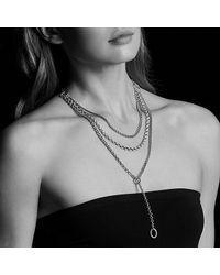 David Yurman - Metallic Mixed Chain Y Necklace - Lyst