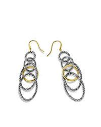 David Yurman   Metallic Mobile Chain Earrings With 18k Gold   Lyst