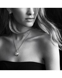 David Yurman - Metallic Crossover Pearl Pendant Necklace With Diamonds In 18k Gold - Lyst