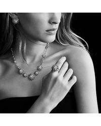 David Yurman | Metallic Starburst Medium Earrings With Diamonds | Lyst