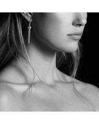 David Yurman | Metallic Renaissance Earrings With Diamonds In Silver | Lyst