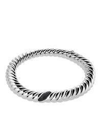 David Yurman - Metallic Hampton Cable Necklace With Black Diamonds - Lyst