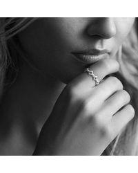 David Yurman - Metallic Venetian Quatrefoil Stacking Ring With Diamonds In 18k Gold - Lyst