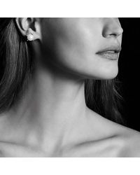 David Yurman - White Pearl Earrings With Diamonds In 18k Gold - Lyst